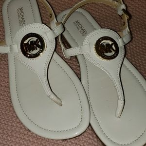 Michael Kors Cream Sandal